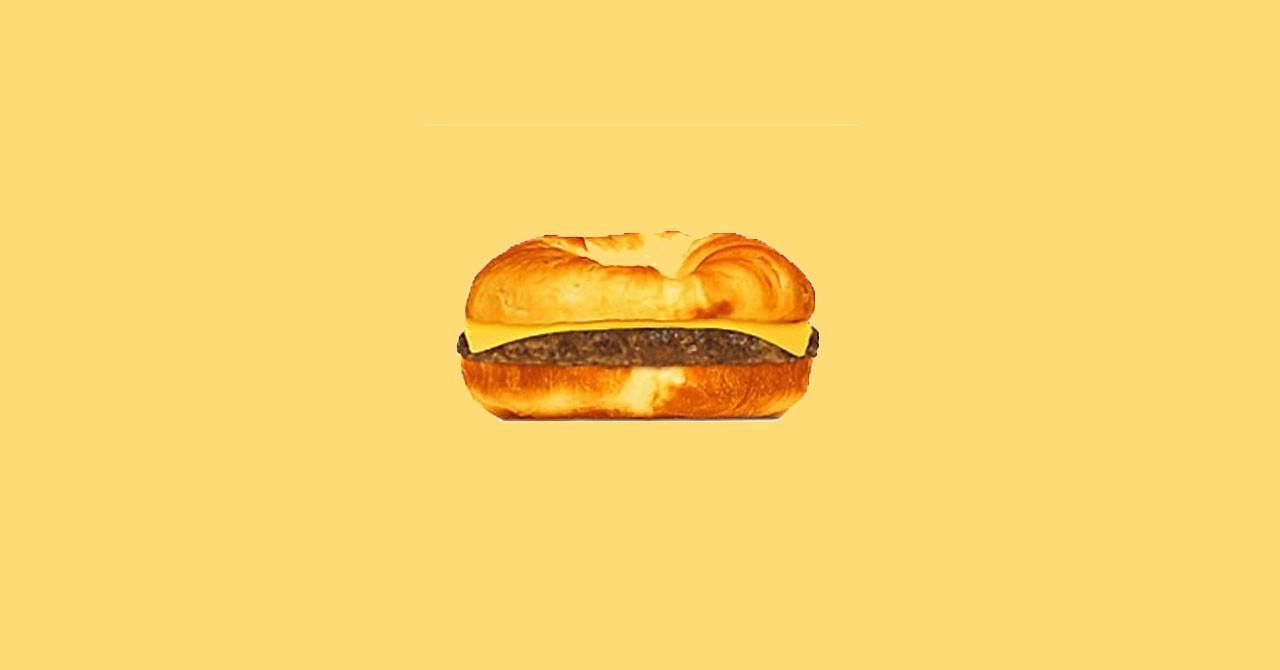 Круассендвич в меню